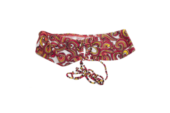 Clearance Speedo Womens/Ladies Patterned Bikini Top (Orange Swirl Design)