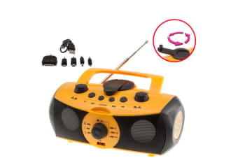 Dynamo Portable Power Generator AM/FM Radio/Usb SD Player/LED Torch/Rechargeable