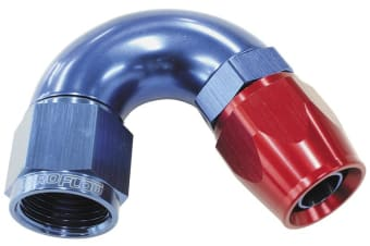 Aeroflow 150 Deg -12AN Full Flow Teflonhose End Blue 1 Piece Fullflow