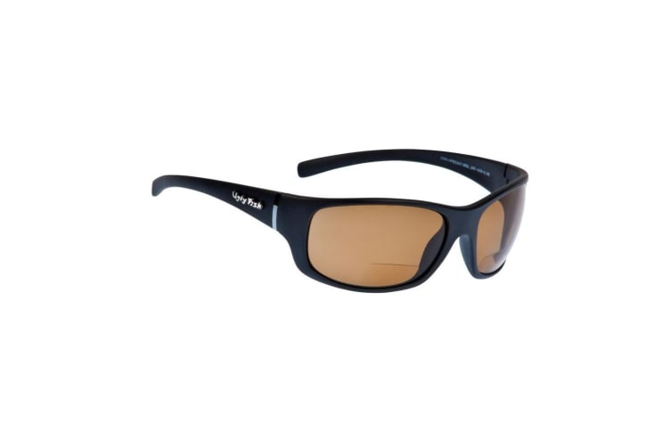 Brown Ugly Fish Eclipse +1.50 Bifocal Nylon Polarised Sunglasses - Adult Fishing Sunnies