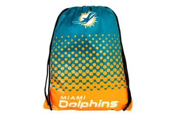 NFL Miami Dolphins Official Fade Gym Bag (Blue/Orange) (One Size)