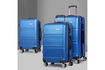 3pc Luggage Sets Suitcase Set TSA Travel Hard Case Free Scale