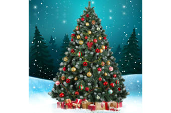 Jingle Jollys 2.1M 7FT Christmas Tree Snowy Xmas Home Decoration 1250 Tips Green