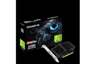 Gigabyte nVidia Geforce GT 710 2GB DDR5 PCIe Video Card 4K 2xDisplays HDMI DVI Low Profile Heatsink 954MHz ~VCG-N710D3-2GL VCG-N710D5-2GL