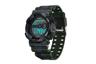 Camouflage Electronic Watch Men'S Multifunctional Outdoor Sports Watch Green