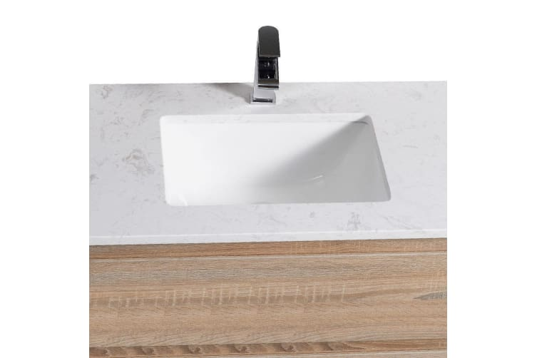 Aulic Finger Pull Bathroom Toilet Vanity Basin Storage Cabinet 900mm  -  Cabinet (right hand drawer)