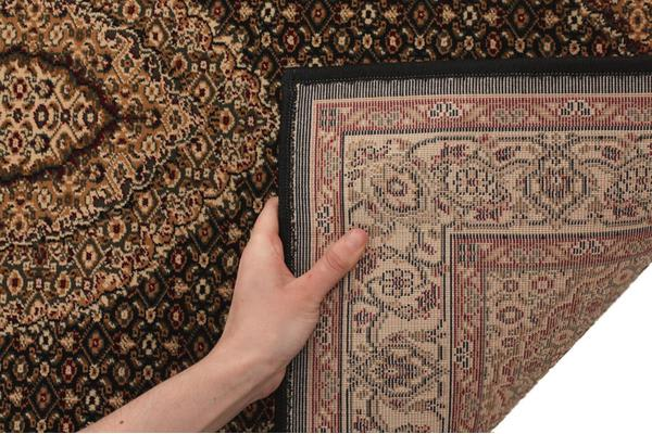 Stunning Formal Oriental Design Rug Black 400x80cm
