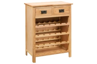vidaXL Wine Cabinet 72x32x90 cm Solid Oak Wood
