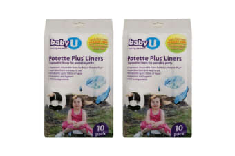 2x 10pc BabyU Fragranced Disposable Liners for Potette Plus Toilet Training Seat