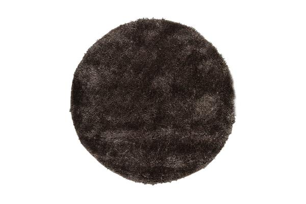 Twilight Shag Rug - Ash Brown 120x120cm