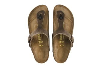 Birkenstock Gizeh Oiled Leather Sandal (Tobacco Brown)