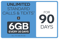 Kogan Mobile Prepaid Voucher Code: MEDIUM (90 Days | 6GB Per 30 Days)