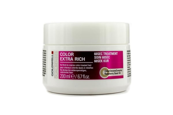 Goldwell Dual Senses Color Extra Rich 60 Sec Treatment (For Thick to Coarse Color-Treated Hair) (200ml/6.7oz)