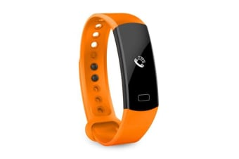 TODO Bluetooth V4.0 Fitness Watch Band Heart Rate Blood Pressure Ip67 0.91 Oled - Orange