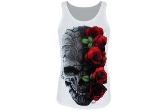 Requiem Collective Ladies/Womens Immortal Bloom Sub Tank (White)