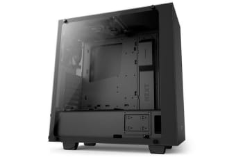 NZXT S340 Elite Compact Mid Tower Case - With Tempered Glass Windows matte black