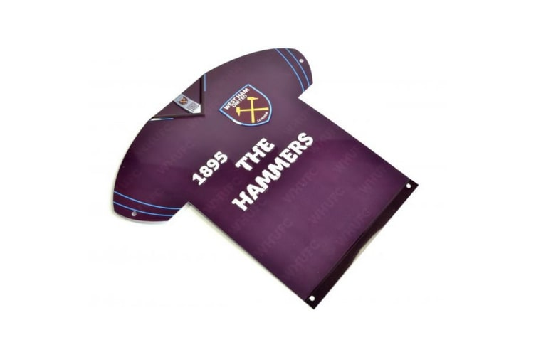 West Ham United FC Metal Shirt Sign (Purple) (One Size)