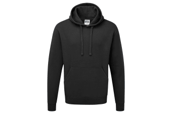 Russell Mens Authentic Hooded Sweatshirt / Hoodie (Black)