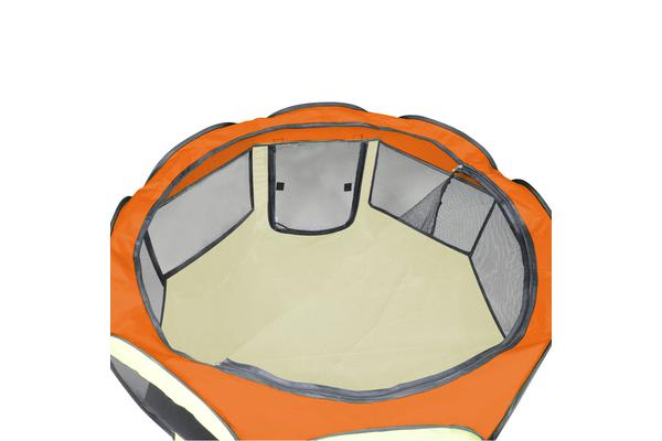 Pet Soft Play Large Round Crate Cage - Orange