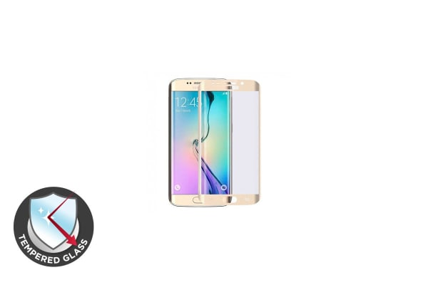 Premium Tempered Glass Screen Protector for Samsung S7 Edge (Gold)
