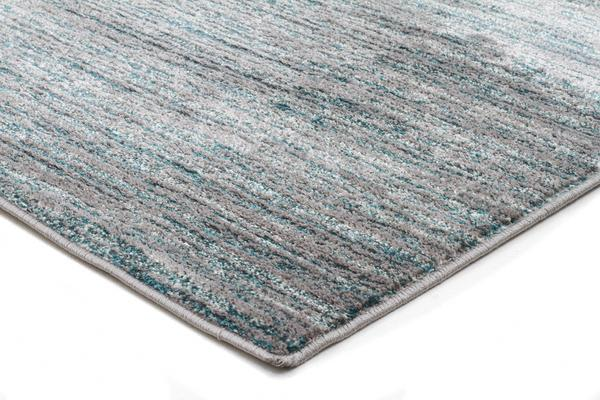 Pandora Contemporary Stripe Rug Blue Grey 290x200cm