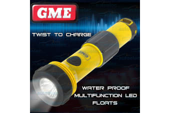 GME LED FLOATING BOAT RESCUE TORCH EMERGENCY SELF CHARGE CHARGING NEW ET80