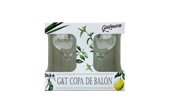 Gin And Tonic Copa Glasses Set Of 2