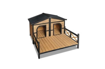 (Double) Pet Dog Kennel (Black)