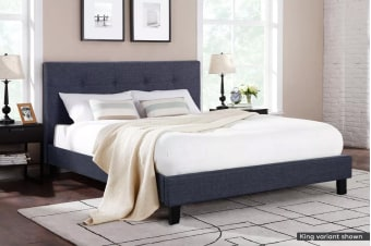 Ovela Bed Frame - Positano Collection (Charcoal Grey)
