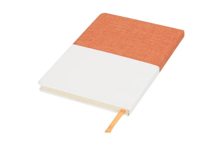 Bullet Two Tone A5 Canvas Notebook (Orange) (One Size)