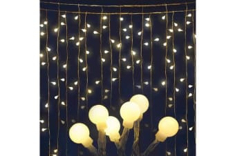 Jingle Jollys 600 LED Curtain Lights (Warm White)