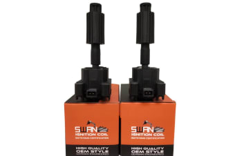 Pack of SWAN Ignition Coils & NGK Spark Plugs for Ford Transit (VH/VJ) 2.3L