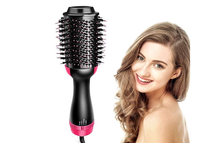 Hair Dryer Brush,2-in-1 One Step Hair Dryer & Volumizer Negative Ion Straightening Brush Salon Hot Air Paddle Styling Reduce Frizz and Static Design