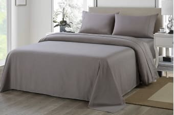 Royal Comfort 1200TC Ultrasoft Microfibre Bed Sheet Set (Double, Charcoal)
