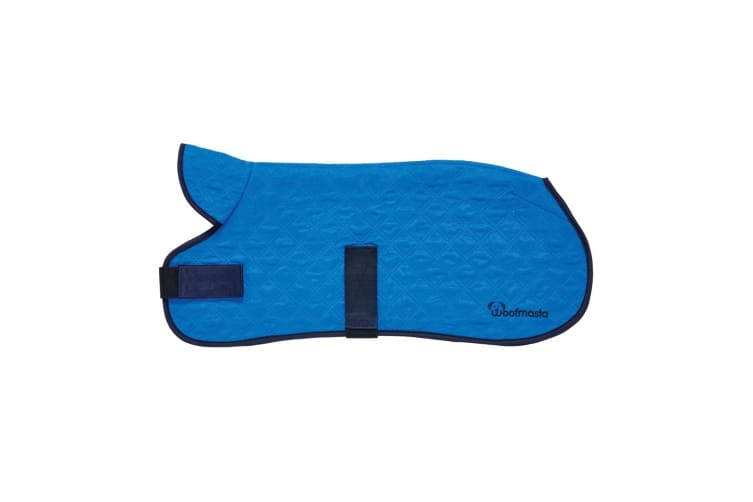 Woofmasta Cooling Dog Coat (Blue) (18 inches)