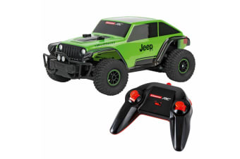 Carrera RC 1:18 Remote Control Jeep Trailcat Off Road Kids Toys Rechargeable GRN