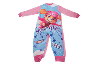 Paw Patrol Childrens Girls Skye Pyjama Sleepsuit (Pink/Blue)