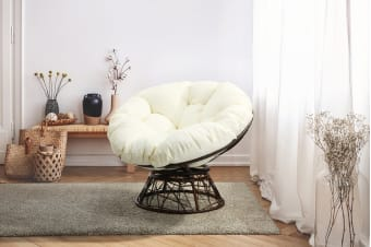 Shangri-La Swivel Wicker Chair (Beige)