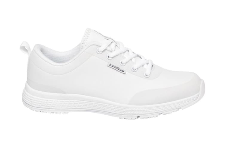 King Gee Women's Superlite Lace Shoe (White, Size 8)
