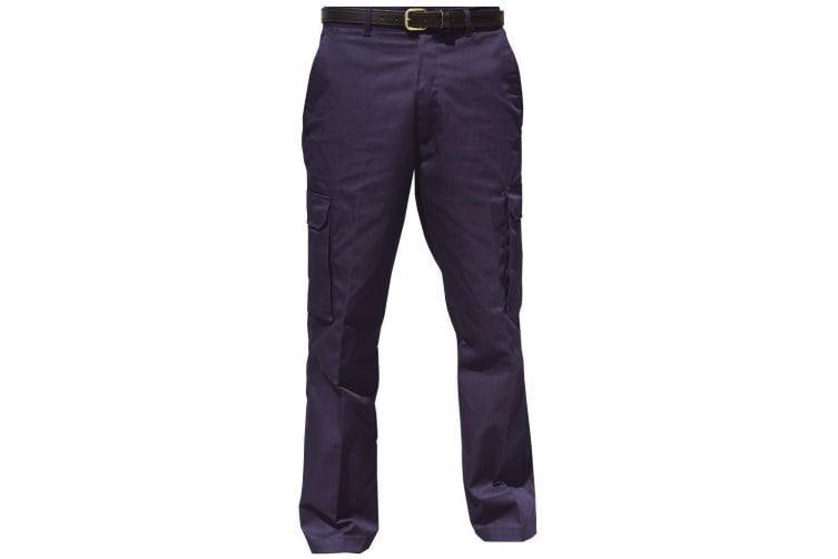 Warrior Mens Cargo Workwear Trousers (Harbour Navy) (38/L)