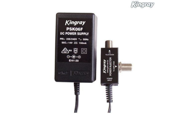 Kingray Plug Pack F Type PSK06F 14V DC 100 mA Power Supply Injector for Amplifier or Booster