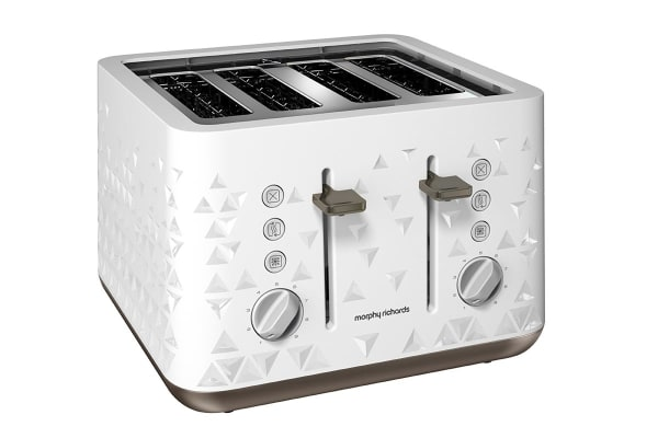 Morphy Richards Prism 4 Slice Toaster (White)