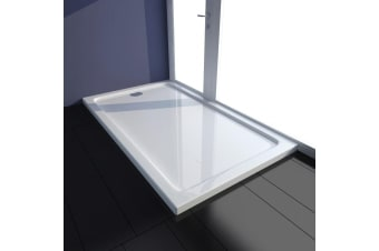 vidaXL Rectangular ABS Shower Base Tray White 70 x 120 cm