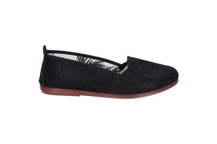 Flossy Womens/Ladies Dosier Slip On Shoe (Black) (5 UK)