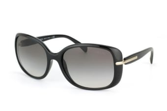 Prada PR08OS 1ABOA7 Shiny Black Mens Womens Sunglasses