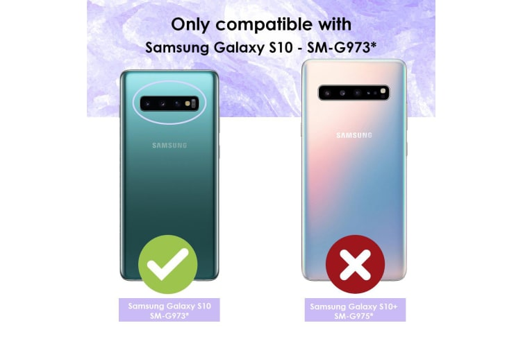 For Samsung Galaxy S10 Case Red+Grey Shockproof PC+TPU Armour Back Cover
