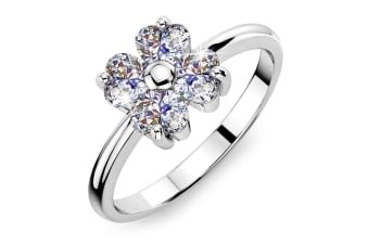 Dazzle Ring Embellished with Swarovski crystals Size US 9