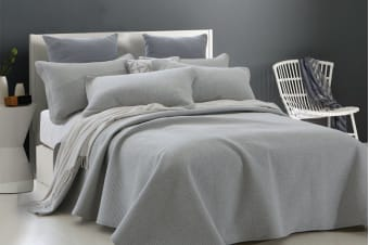 Gioia Casa Jersey Cotton Coverlet (Queen/King, Grey)