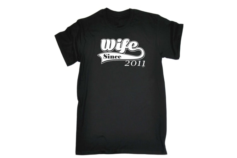 123T Funny Tee - Wife Since 211 - (XX-Large Black Mens T Shirt)