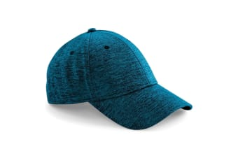 Beechfield Unisex Adults Spacer Marl Stretch Fit Cap (Spacer Turquoise) (One Size)
